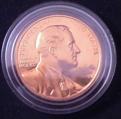 Franklin Rooseveltbronze Coin Medal/president/ Inaugurated President/ Free Ship!