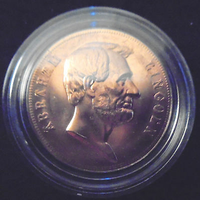 Abraham Lincoln Bronze Coin Medal/president/ Inaugurated President/ Free Ship!
