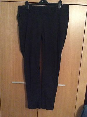 Dorothy Perkins Black Maternity Trousers Size 12