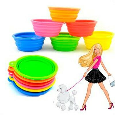 Quality Durable Travel Portable Pet Cat Dog Feeder Water Feeding Bowl Silicone