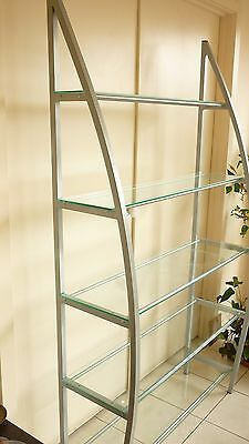 Stand Alone Glass Shelving Metal Frame 1840 x 1050 x 365