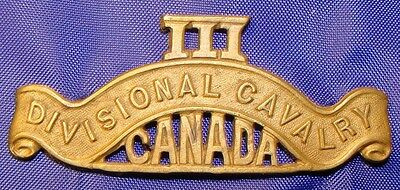 3rd Divisional Cavalry Canada  Brass Badge