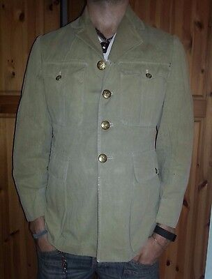 Vintage British Army Royal Engineers Officer Service Cotton Dress Jacket