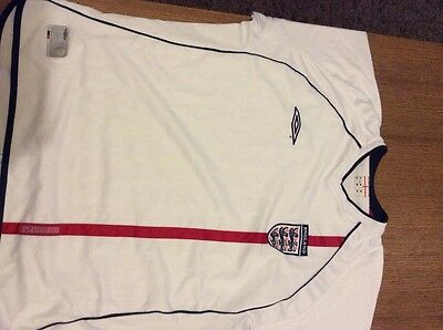 mens england football shirt size xl
