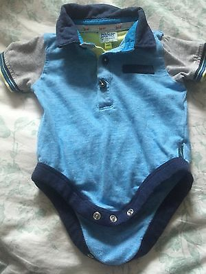 Ted Baker Baby Polo Shirt Vest 0-3 Months Baby Grow