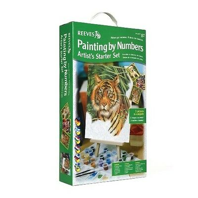 Reeves Painting By Numbers Starter Set Creative Artwork Painting Gift