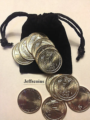 7x 2nds 2017 P D Effigy Mounds National Monument ATB Quarters Free Gift Bag PD