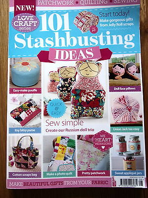 101 Stashbusting Ideas. Patchwork,quilting and sewing.As new.