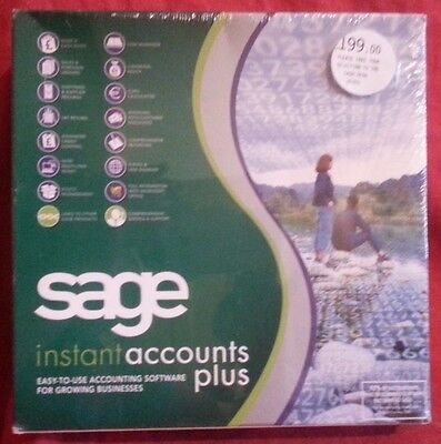 Sage Instant Accounts Plus V8 Cd Software For Growing Businesses (Boxed Product)