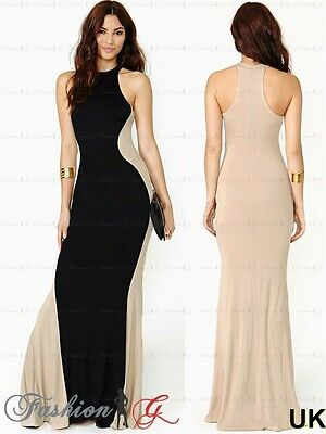 Womens Evening Dress Maxi Ball Prom Black Party Formal Long Celeb Size 8 10 12