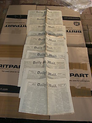 10 Victorian Editions Of The Daily Mail From  May 1899 8 Pages Each London