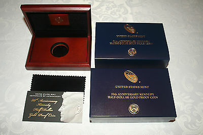 2014 50th Anniversary Kennedy Half Dollar Gold Proof BOX ONLY *No Coin*