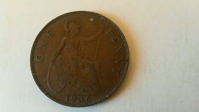 3  x  1936 Coin George V pennies