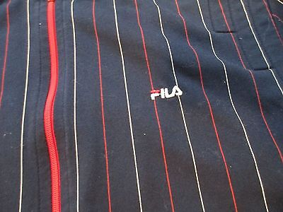 "True Vintage ""FILA"" Italy Blue Stripe Jacket Pant Tennis Womens Track Suit Sz 10"