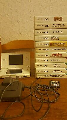 Bundle of 11 Games + 1 Cartridge Console  + Charger  DS