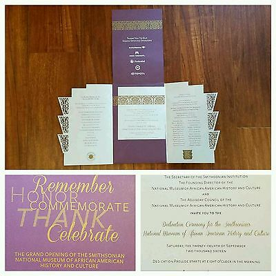 Rare Smithsonian African American Museum Grand Opening Invitation Ticket