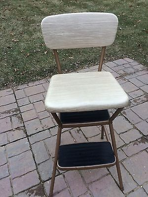 VINTAGE RETRO COSCO KITCHEN STEP STOOL CHAIR  WITH FLIP UP LID Mid Century