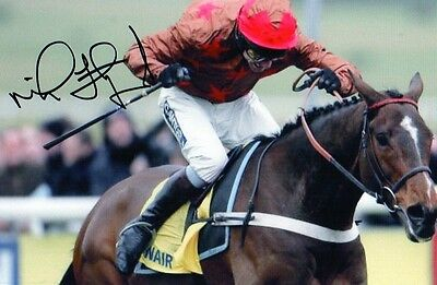 """horse racing mick fitzgerald signed 6"""" x 4"""" photograph"""