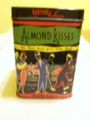 Vintage Barton's Bonbonniere Almond Kisses Candy Tin