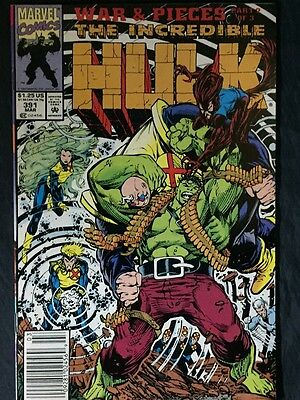 (5)THE INCREDIBLE HULK NOs.391,392,393,394,and NO.395 MARVEL COMICS