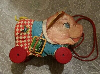Fisher Price Antique Peter Pig pull toy