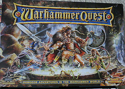 Games Workshop Warhammer Quest Fantasy Board Game From 1995 + Treasure Pack 1