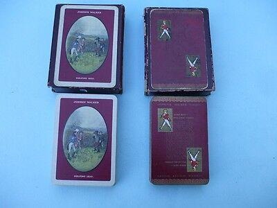 Vintage Packs Of Playing Cards Johnnie Walker X 2 With Boxes Used.