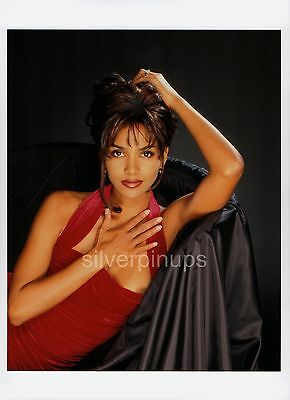 Orig 1998 HALLE BERRY Dazzling.. RISQUE GLAMOUR Portrait by HARRY LANGDON