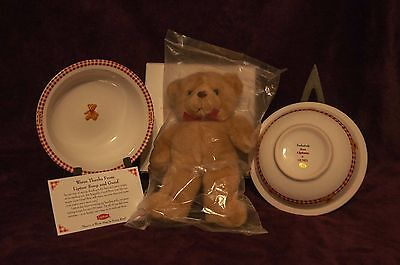 Lipton & Gund Teddy Bear Collectible Soup Dish Combo
