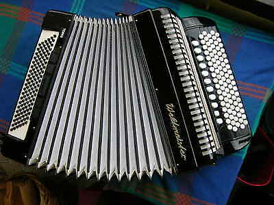 Weltmeister C-System Chromatic Accordion, 4 reeds, 120 B. y. 2000 good condition