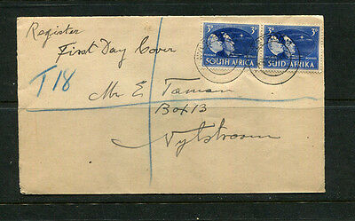 South Africa 1945 Fdc First Day Stamp On Plain Addressed Cover Cds Nylstroom