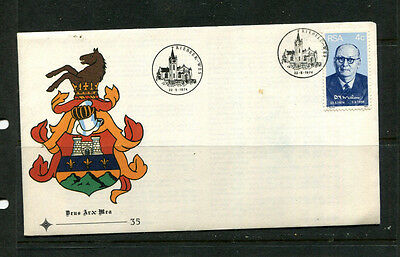 South Africa 1974 Fdc First Day Stamp Cover Dr Malan