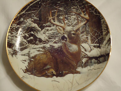 Danbury Mint plate Winter Stag Bob Travers Pride of the Wilderness
