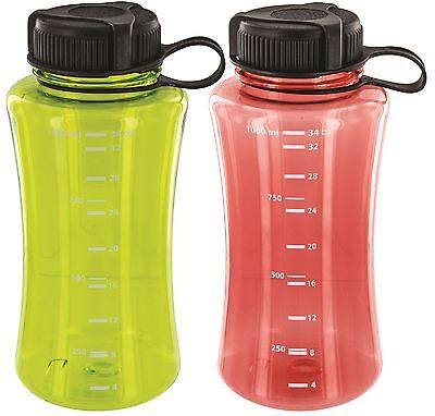 Highlander Polycarbonate Travel Water Bottle. Wide Neck Drinks filter compatible