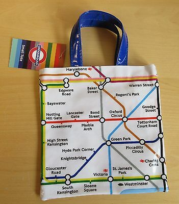 Small Tote London Transport Underground  Design Lunch Bag School Bag Tube Map