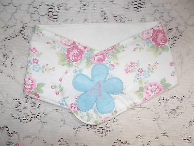 """SALE! Cath Kidston Spray Flowers Brushed Cotton Personalised """"A"""" Handmade Scarf"""