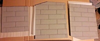 Fireplace Firebox Brick Pattern Liner Kit - Cut to Fit