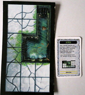 Warhammer Quest Sewer White Dwarf 204 Issue Room And Card