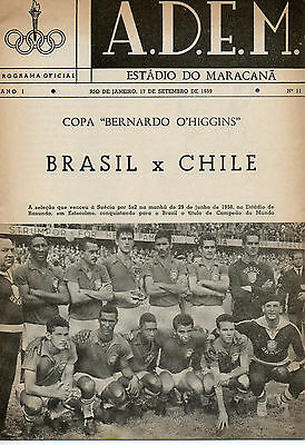 BRAZIL v CHILE 17th SEPTEMBER 1958