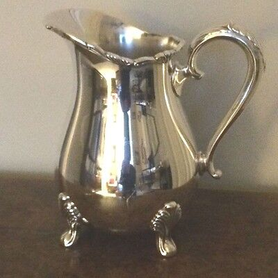 Antique TOWLE EP # 2824 Silverplate Footed Water Pitcher Scrollwork Along Lip