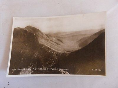 Vintage RP Postcard,The Saddle from The Witches Step,Isle of Arran,Valentines