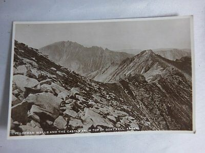 Vintage RP Postcard,Cyclopean Walls & The Castle from Top of Goat Fell,Arran