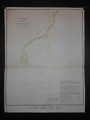 Cape Roman Shoals Charleston County South Carolina 1853 Map H/C Lighthouse