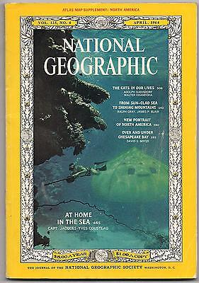 national geographic-APR 1964-COUSTEAU.