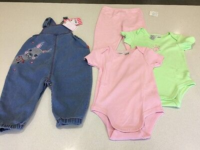 Brand New With Tags - Pumpkin Patch - Size 1 (12-18 Months) Overalls - Bodysuit