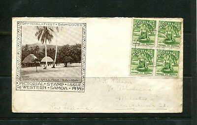 Western Samoa 1935 Fdc First Day Stamp Cover