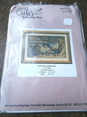 Vtg Gittas Charted Petit Point Evening Serenade 150 by 230 stitches