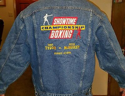 SHOWTIME CHAMPIONSHIP BOXING MIKE TYSON VS PETER McNEELY JACKET AUGUST 19, 1995
