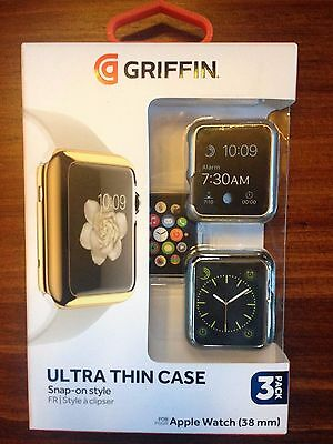 Griffin Ultra Thin Snap-On Case For The Apple Watch 38Mm - 3 Pack  - Gb42092