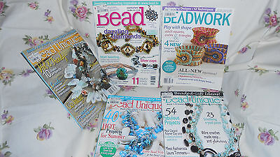 lot beading books excellent patterns lot 1 .. 5 magazines